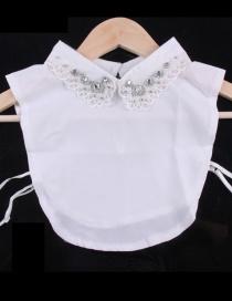 Fashion White Diamond Decorated Fake Collar