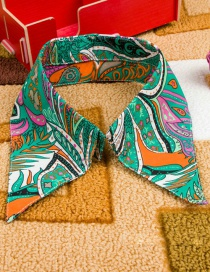 Fashion Green Color Matching Decorated Fake Collar