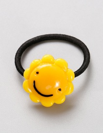 Lovely Yellow Sunflower Shape Decorated Baby Hair Band