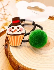 Lovely Yellow+green Ice-cream Shape Decorated Christmas Hair Band (1pair)