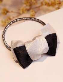 Fashion Black+white Color-matching Shape Decorated Bowknot Hair Band