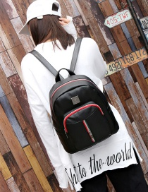 Fashion Black Zipper Decorated Mini Backpack