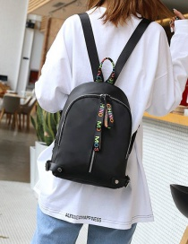 Fashion Multi-color Ribbon Decorated Simple Backpack