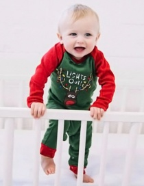 Fashion Green Elk Pattern Decorated Nightgown For Baby