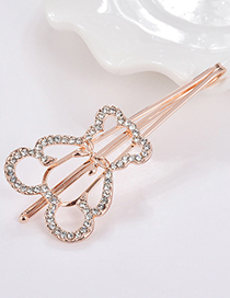 Elegant Gold Color Bear Shape Decorated Hair Clip