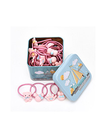 Lovely Light Blue Pure Color Decorated Baby Hair Band(40pcs+box)
