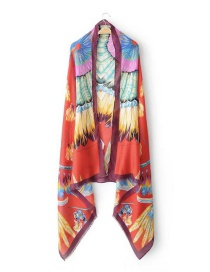 Elegant Multi-color Wing Pattern Decorated Scarf