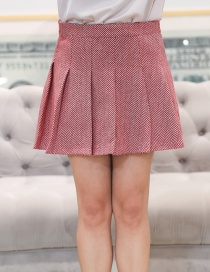 Fashion Pink Pure Color Decorated Large Skirt