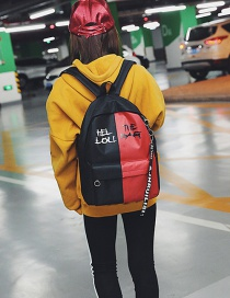 Fashion Red Letter Pattern Decorated Backpack