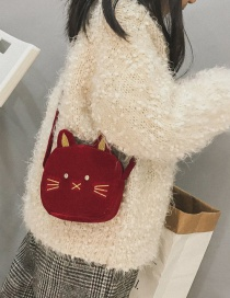 Lovely Red Cat Shape Decorated Bag