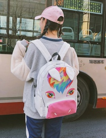 Fashion Multi-color Unicorn Pattern Decorated Backpack
