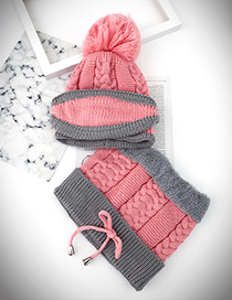 Lovely Pink Color-matching Decorated Bib Scarf