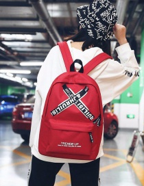 Fashion Red Cross Shape Decorated Backpack
