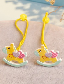 Fashion Yellow Horse Shape Decorated Hair Band ( 2 Pcs)