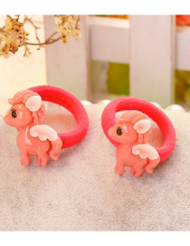 Fashion Red Horse Shape Decorated Hair Clip(2 Pcs)