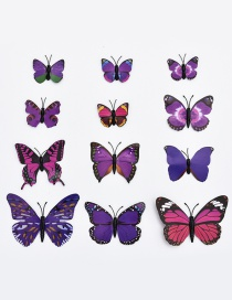 Lovely Purple Butterfly Shape Decorated Ornament (12pcs)