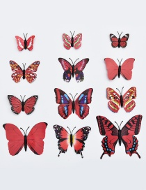 Lovely Red Butterfly Shape Decorated Ornament (12pcs)