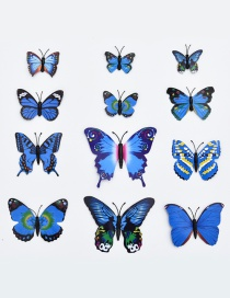 Lovely Blue Butterfly Shape Decorated Ornament (12pcs)