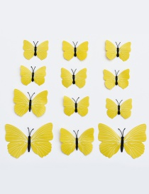 Lovely Yellow Butterfly Shape Decorated Ornament (12pcs)