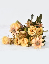 Lovely Yellow Rose Shape Decorated Ornament
