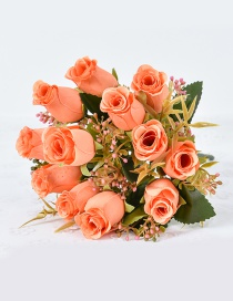 Lovely Orange Rose Shape Decorated Ornament