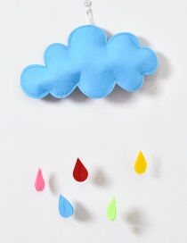 Lovely Blue Clouds Shape Decorated Ornament