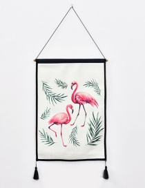 Fashion Pink Flamingo Pattern Decorated Ornament