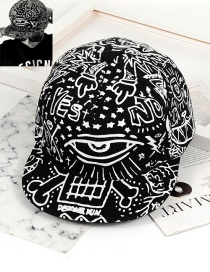 Fashion White+black Color Matching Decorated Cap
