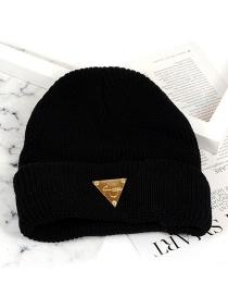 Fashion Black Triangle Shape Decorated Hat