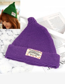 Fashion Purple Letter Patch Decorated Hat