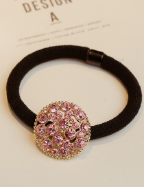 Lovely Pink Square Shape Decorated Hair Band
