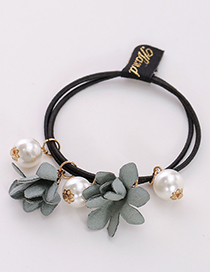 Fashion Green Three Flowers Shape Decorated Hair Band