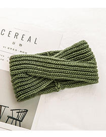 Fashion Green Pure Color Decorated Hair Band