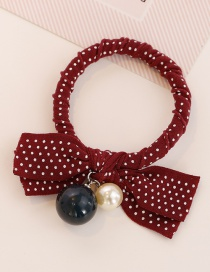 Fashion Claret-red Dot Shape Decorated Hair Band