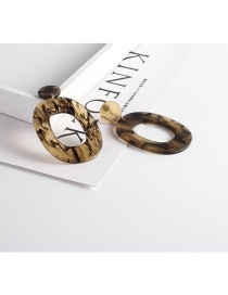 Trendy Champagne Hollow Out Design Simple Earrings