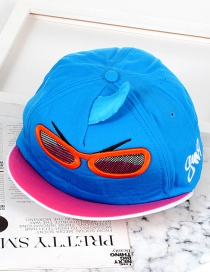 Trendy Blue Little Monster Design Hip-hop Cap