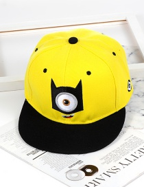 Personality Yellow Eye Shape Decorated Hat
