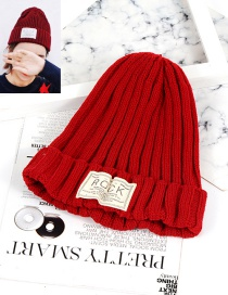 Fashion Claret-red Pure Color Decorated Hat