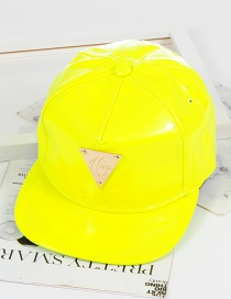 Fashion Fluorescent Yellow Triangle Shape Decorated Hat