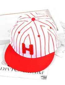 Fashion Red Letter H Shape Decorated Hat