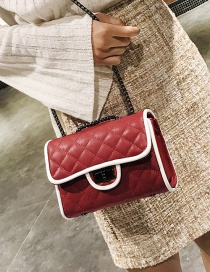 Fashion Red Square Shape Decorated Bag