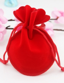Fashion Red Pure Color Decorated Bags