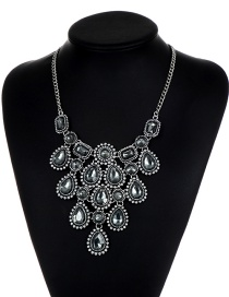 Elegant Gray Hollow Out Decorated Necklace