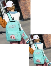 Fashion Green Lollipops Shape Decorated Backpack