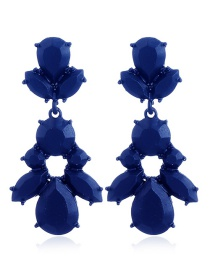 Fashion Blue Pure Color Decorted Earrings