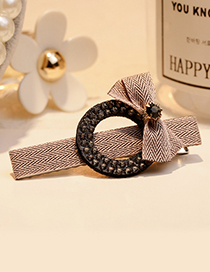 Fashion Pink Bowknot Decorated Simple Hair Clip