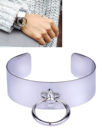 Fashion Silver Color Circular Ring Decorated Bracelet