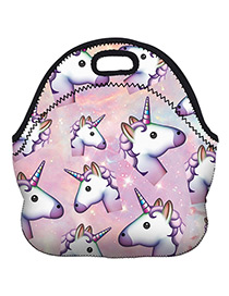 Fashion Purple Unicorn Pattern Decorated Bag