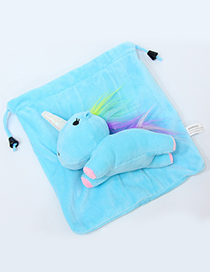 Lovely Blue Cartoon Unicorn Design Cosmetic Bag(or Wallet)