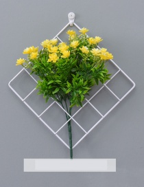Fashion White+yellow Grid Shape Design Pure Color Ornament(with Gardenia)
